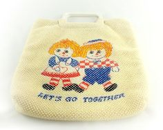 1960s Raggedy Ann and Andy Tote
