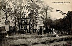 Restauracja Leśna (Waldrestaurant Mühltal), Bydgoszcz - 1917 rok, stare zdjęcia 1917 , Restauracja leśna w Smukale.