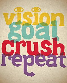 vision, goal, crush, repeat by lululemon athletica Running Motivation, Fitness Motivation, Fitness Goals, Fitness Tips, Health Fitness, Motivation Inspiration, Fitness Inspiration, Inspiration Entrepreneur, I Work Out