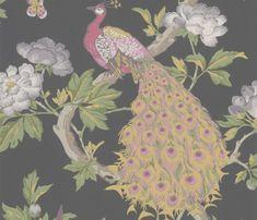 Pavona Maeve Peacock Wallpaper, Bird Wallpaper, National Trust, Little Greene, Chinese Design, Wallpaper Calculator, Peacock Design, All Wall, Art Of Living