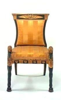 Egyptian Style Armchair. Florence, Gaetano Cambi, 1820. 93 × 54cm.