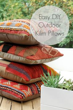 DIY Outdoor Kilim Pillows (+ A Few Outdoor Changes)