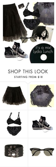 """""""The Punk Rock Queen Mix!"""" by elliewriter ❤ liked on Polyvore featuring Miss Selfridge, Converse, Ray-Ban and ItsAmix"""
