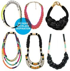 diy rope necklaces