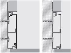 Aluminium Skirting board PROSKIRTING CHANNEL by PROGRESS PROFILES