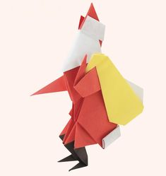Santa Claus  •  Free tutorial with pictures on how to fold an origami character in under 60 minutes
