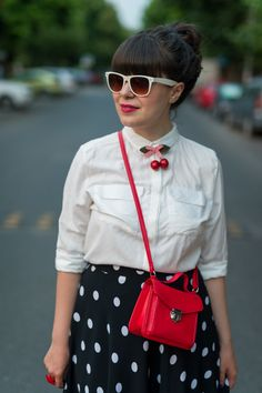 polka dots and cherries - retro vintage vibes