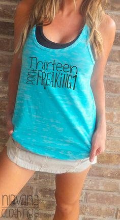 Thirteen Point Freaking one A Line Racerback Tank by NirvanaClothingCo, $26.00 Half Marathon Race shirt