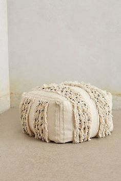 Glacial Fringe Pouf - contemporary - Floor Pillows And Poufs - Anthropologie