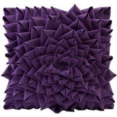 Fontella Hand Sewn Felt Rose Pillow