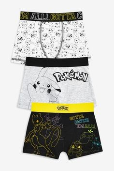 cd10c9f08b8b6 Buy Pokémon™ Trunks Three Pack (3-14yrs) from the Next UK online shop. Swim  TrunksSwimsuit