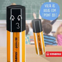 Um estojo de Point 88 em formato de Point 88! Fofo, né? Ele vem com 20 canetas sortidas pra colorir a volta às aulas.
