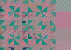 illustration geometric shapes, neon, aztec etc