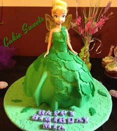 @CakieSweets Tinkerbell doll cake I made for my daughter's 8th birthday.