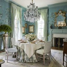 A Charming Countryside Cottage - The Glam Pad Southern Homes, Southern Living, Southern Style, Country Style, Classic Interior, Home Interior Design, Atlanta Homes, Dining Room Inspiration, Traditional House