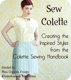 Sew Colette - Sew Along from the Colette Sewing Handbook. All the links are on this page.