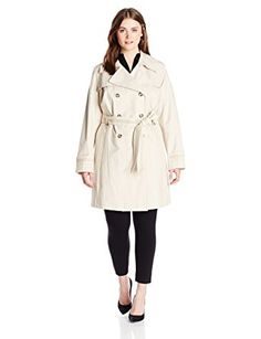 Via Spiga Women's Plus-Size Double-Breasted Trench Coat With Belt Review