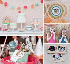 Check out the brilliant desserts and purr-fect decorations in this Adorable Vintage Puppy and Kitten Party!