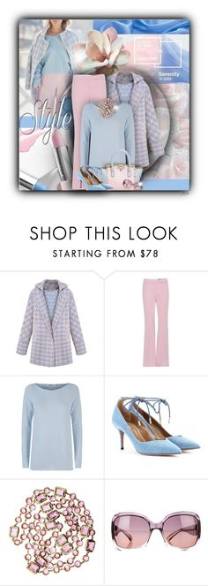 """""""Rose Quartz and Serenity"""" by jgee67 ❤ liked on Polyvore featuring Alexander McQueen, Lamberto Losani, Aquazzura, Chanel and Jimmy Choo"""