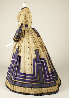 American (probably) Dress ca. 1863-64; side view