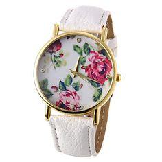 relógio padrão de flor de moda feminina – EUR € 6.33