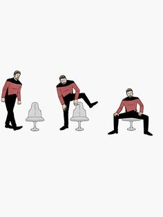 """Riker Sitting"" Sticker by citycyclops Star Trek Tos, Star Wars, Star Trek Meme, Star Trek Images, Star Trek Characters, Video Clips, Starship Enterprise, Star Trek Universe, Funny Video Memes"