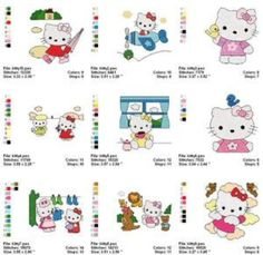hello kitty embroidery designs - Google Search