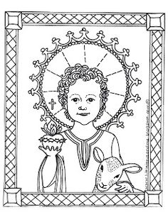 Little Jesus and Me Free Printable Coloring pages, Catholic Education Resources; Might Make a cute Valentine, Jesus and Lamb, Homeschool Catholic Crafts, Catholic Kids, Catholic School, Free Printable Coloring Sheets, Printable Art, Faith Crafts, Sunday School Kids, Religious Education, Colorful Pictures