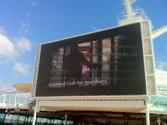 Big screen, poolside on @RoyalCaribbean Grandeur of the Seas #cruise