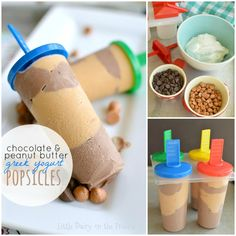 Chocolate and Peanut Butter Greek Yogurt Popsicles! Cool off this summer with creamy and healthy Chocolate and Peanut Butter Greek Yogurt Popsicles! Chocolate Greek Yogurt, Healthy Chocolate, Chocolate Peanut Butter, Steak Quesadilla, Videos Fun, Pudding Pop, Yogurt Popsicles, Caramel Cookies, Fudge Sauce