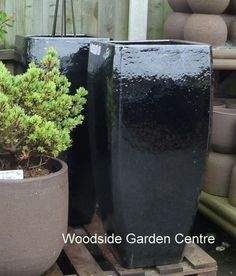 High Quality Tall Black Milan Glazed Pot Planters | Woodside Garden Centre | Pots To  Inspire