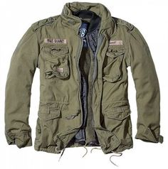 BRANDIT 'GIANT'  M65 MILITARY US ARMY STYLE 3 SEASON JACKET-ZIP OUT LINER-OLIVE