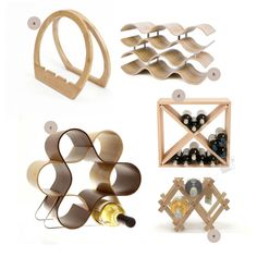 Love these different shapes for wine racks!