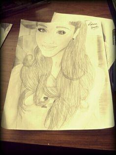 Dibujo de Ariana Grande hecho por mi. #ArianaGrandeDrawing