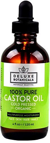 100 Pure Organic Castor Oil 4 oz  Unrefined Cold Pressed  Hexane Free  Best for Hair Growth Eyelashes Acne Moisturizer  Natural Skin Care Treatment -- Trust me, this is great! Click the image. : All Natural Skin Care