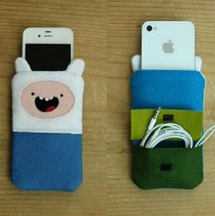 Adventure Time Finn Felt Phone Pouch