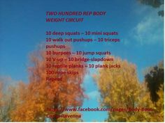200 rep workout made for Body Boot Camp - Ravenna