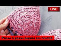 AO VIVO - Biquíni em crochê - Passo a Passo - YouTube Crochet Bra, Crochet Bikini Pattern, Crochet Beanie Pattern, Crochet Boots, Crochet Slippers, Crochet Scarves, Crochet Patterns, Swimsuit Pattern, Crochet Slipper Pattern