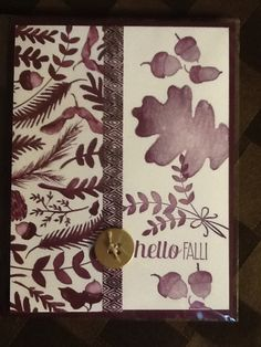 Stampin' Up! For All Things with Color Me Autumn designer series paper.