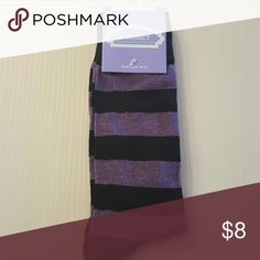 Mens dress socks Purple and black dress socks. These are long socks that are quality and comfortable. Parquet Underwear & Socks Dress Socks