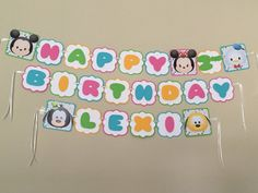 Tsum Tsum MICKEY & FRIENDS Birthday Party Banner by HappyBubby