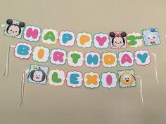 Tsum Tsum MICKEY & FRIENDS Birthday Party Banner by HappyBubby