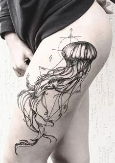 jellyfish tattoos for women