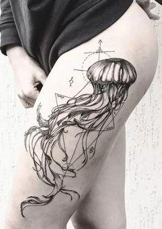 jellyfish tattoos for women