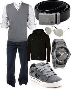 """""""The Iron Belt - Skater in a vest... YES!"""" by kristinmadsen on Polyvore"""