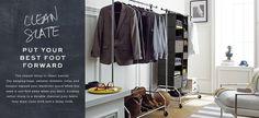 open clothes storage