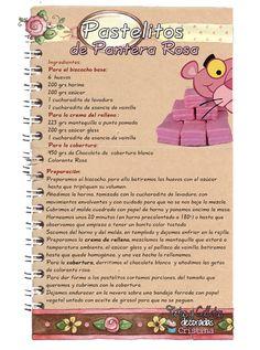 Tartas, Galletas Decoradas y Cupcakes: Pastelitos de Pantera Rosa