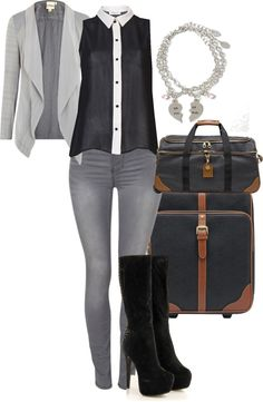 """""""Airport"""" by ella-romain on Polyvore"""