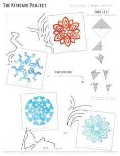 Omiyage Blogs: The Kirigami Project - Week 30 - Peacock Flower
