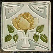 Jugendstil Fliese art nouveau tile Tegel Witteburg Rose stilisiert top rar schön